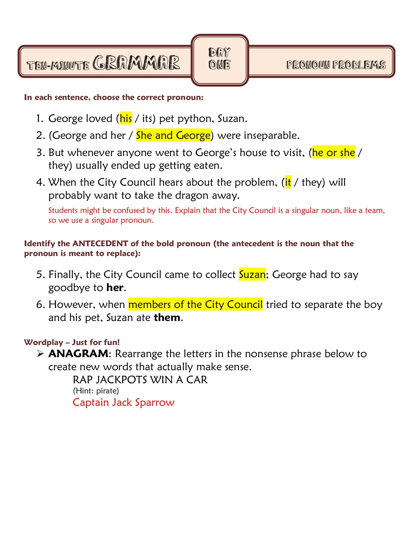 hight resolution of Ten Minute Grammar - myCCSD Pages 1 - 16 - Flip PDF Download   FlipHTML5