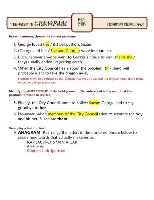 small resolution of Ten Minute Grammar - myCCSD Pages 1 - 16 - Flip PDF Download   FlipHTML5