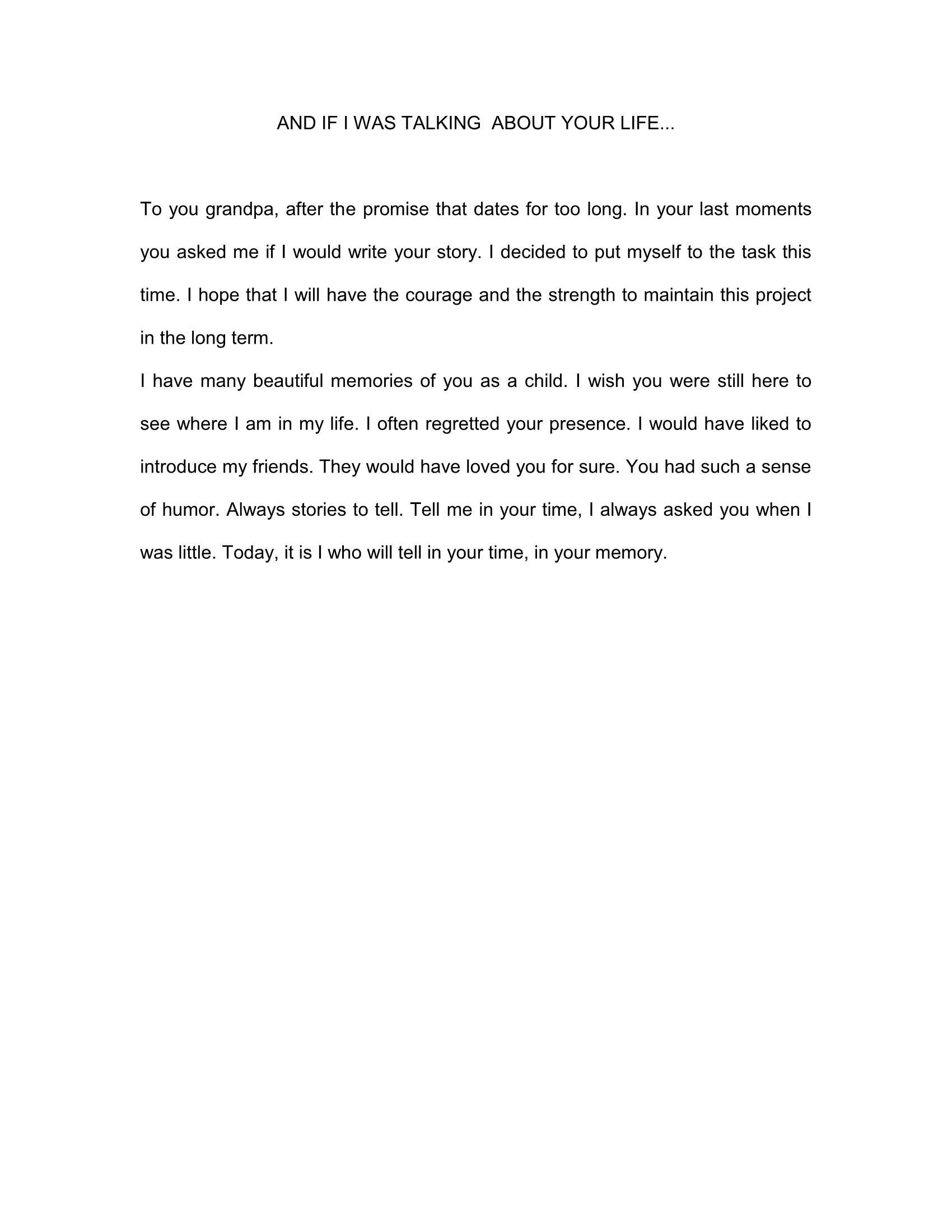 letter to my grandfather