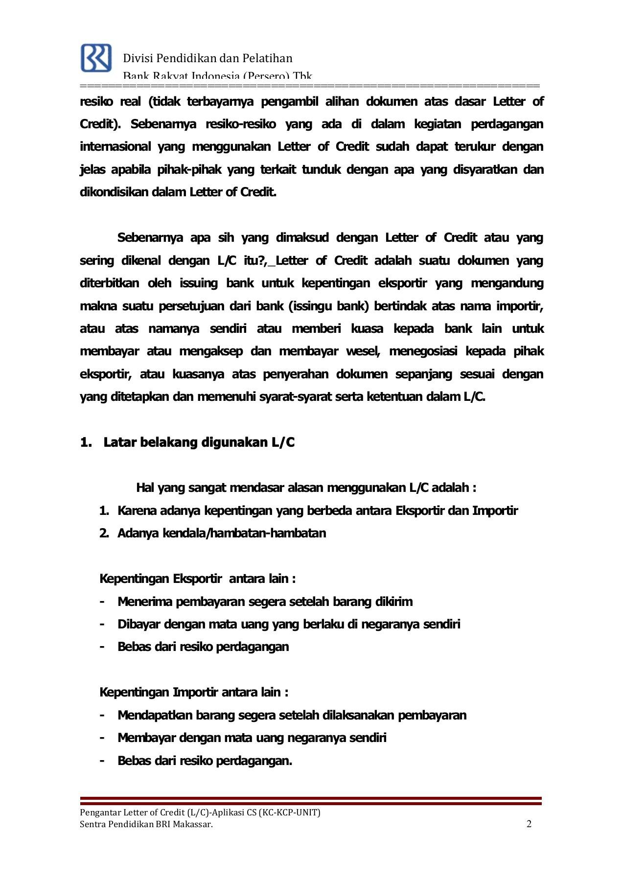 Contoh Letter Of Credit : contoh, letter, credit, ISI_PENGANTAR, LC-APLIKASI_CS_2014