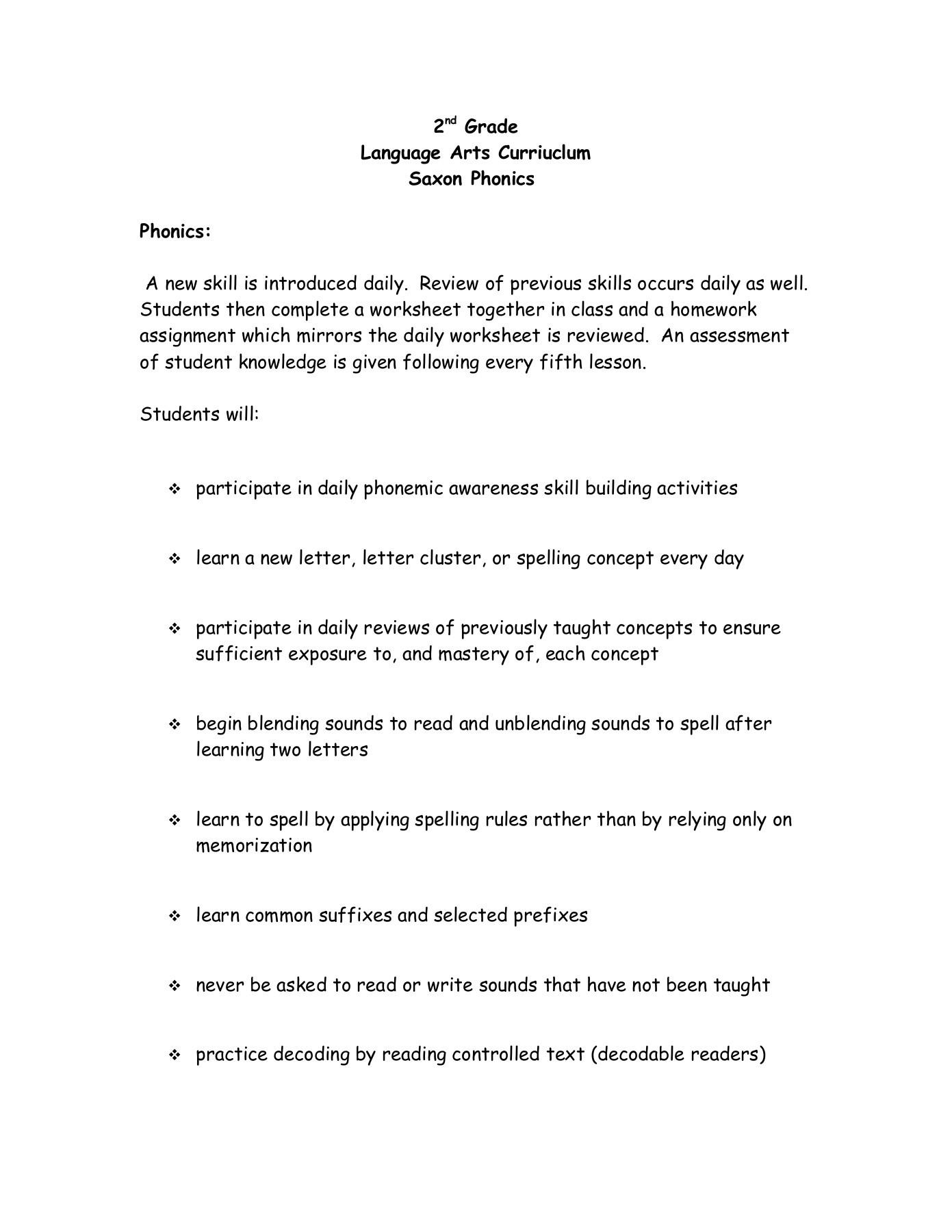 hight resolution of 2nd Grade Language Arts Curriuclum Saxon Phonics Pages 1 - 5 - Flip PDF  Download   FlipHTML5