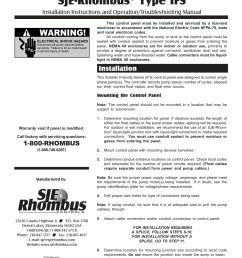 installer friendly series sje rhombus type ifs pages 1 4 text version fliphtml5 [ 1391 x 1800 Pixel ]