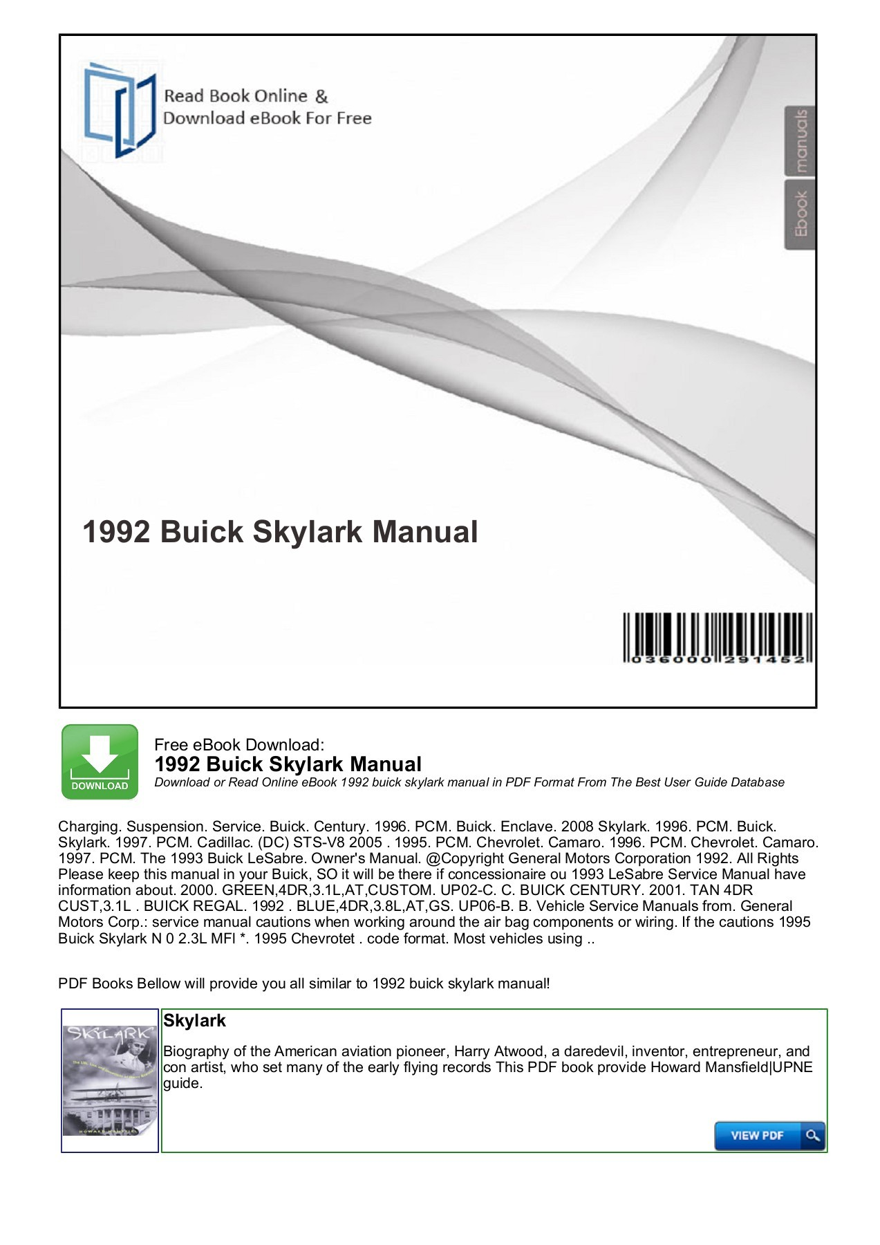 hight resolution of  array 1992 buick skylark manual productmanualguide pages 1 3 text rh