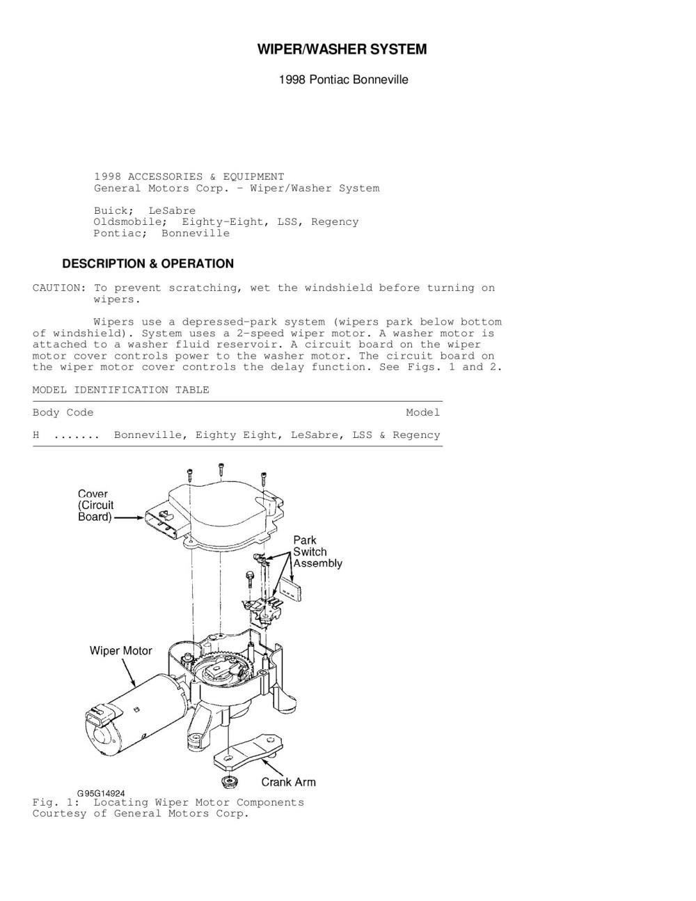 medium resolution of wiper washer system gm forum buick cadillac chev