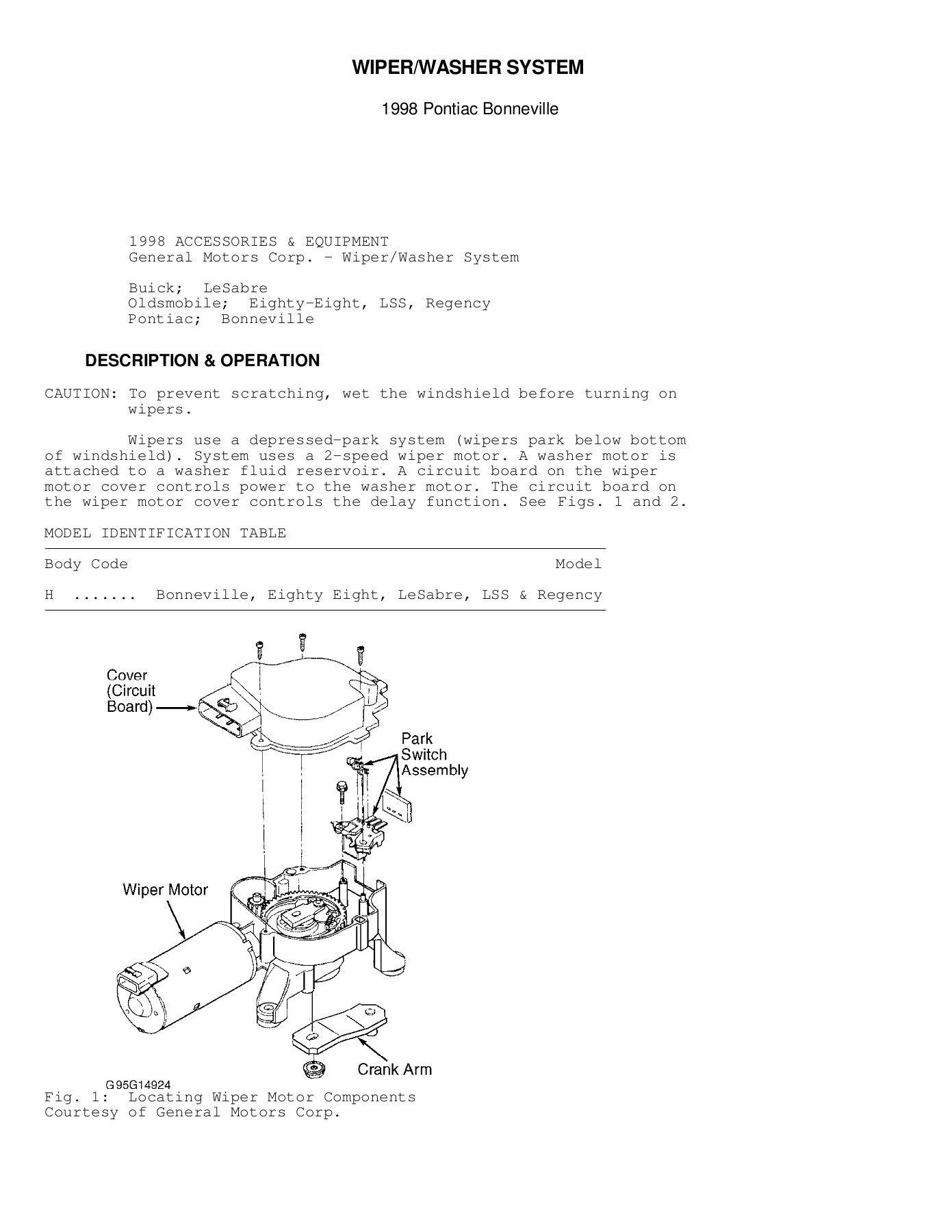 hight resolution of wiper washer system gm forum buick cadillac chev