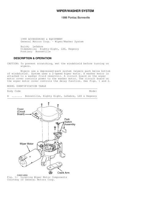 small resolution of wiper washer system gm forum buick cadillac chev