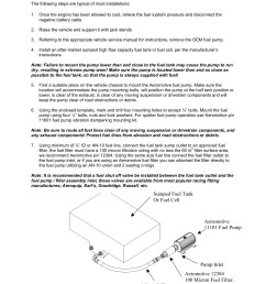 aeromotive 11101 fuel pump installation instructions pages 1 7 text version fliphtml5 [ 1391 x 1800 Pixel ]