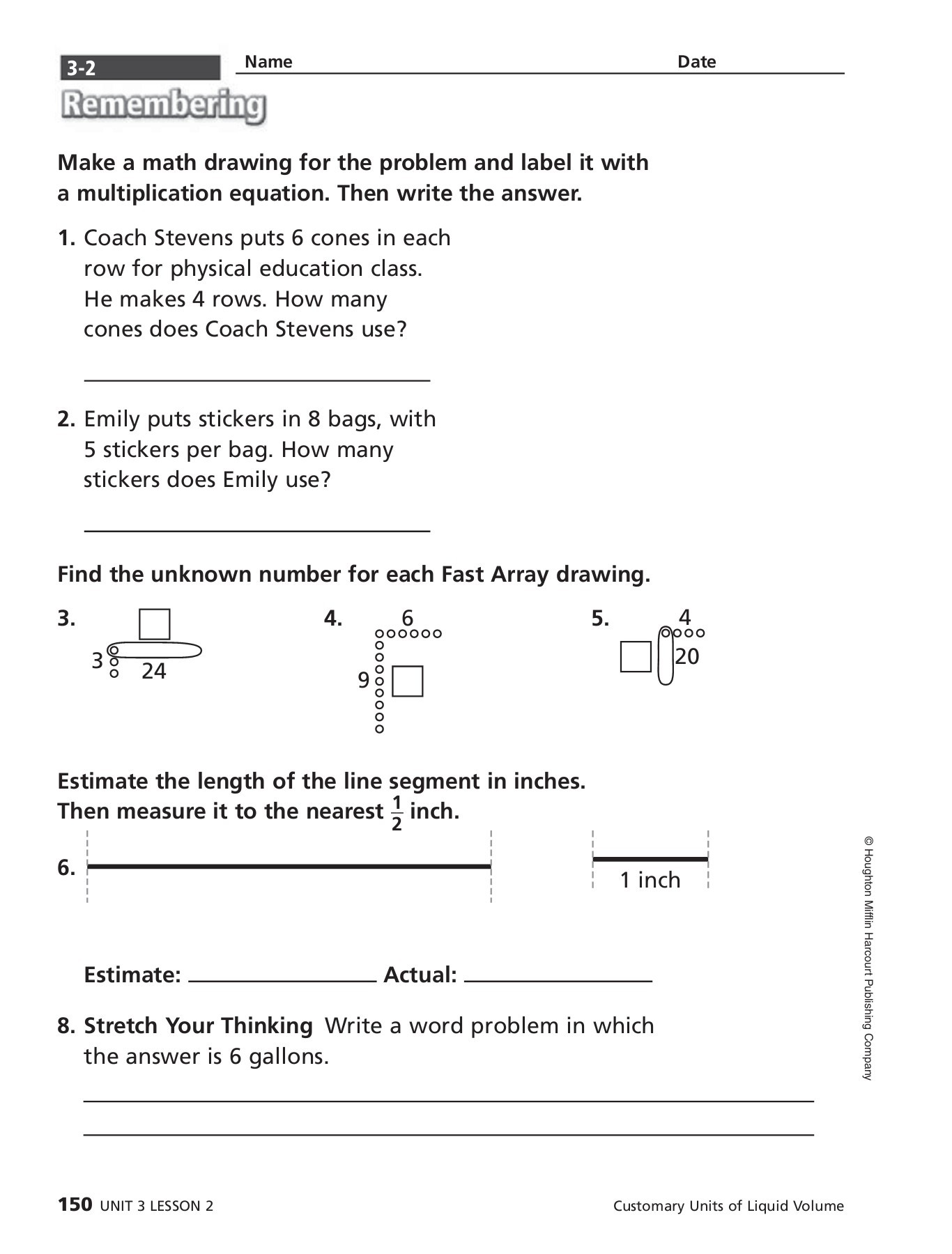 Houghton Mifflin Harcourt Publishing Company Answers Grade 5