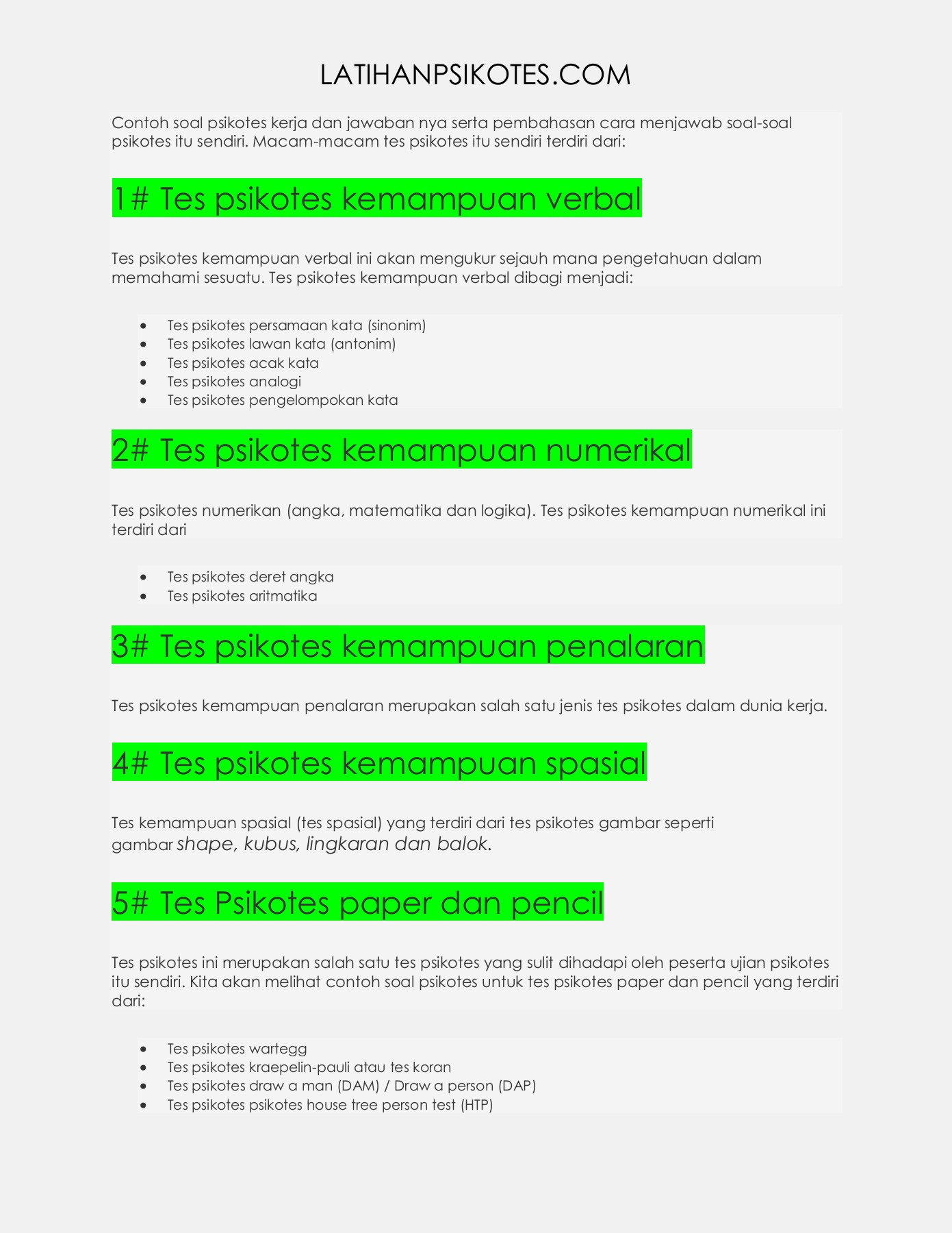 Contoh Soal Psikotest, Tips dan Cara Menjawabnya | Bimbel