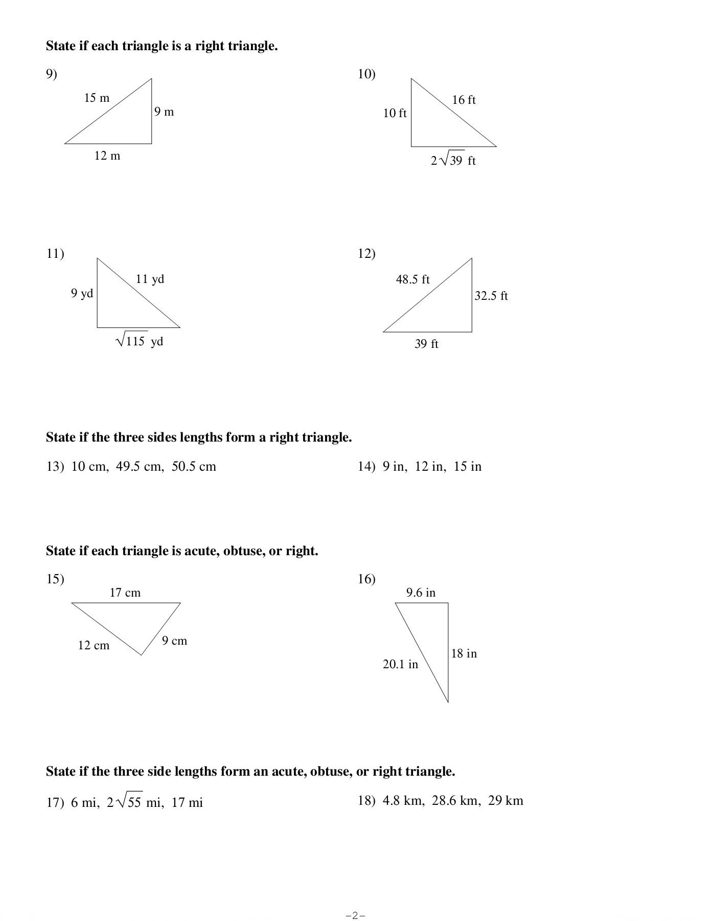 فوضوي الصبر فارغة the pythagorean theorem and its converse answers -  pleasantgroveumc.net [ 1800 x 1391 Pixel ]