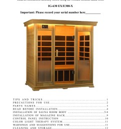 infrared wooden sauna room instruction finnleo pages 1 15 text version fliphtml5 [ 1272 x 1800 Pixel ]