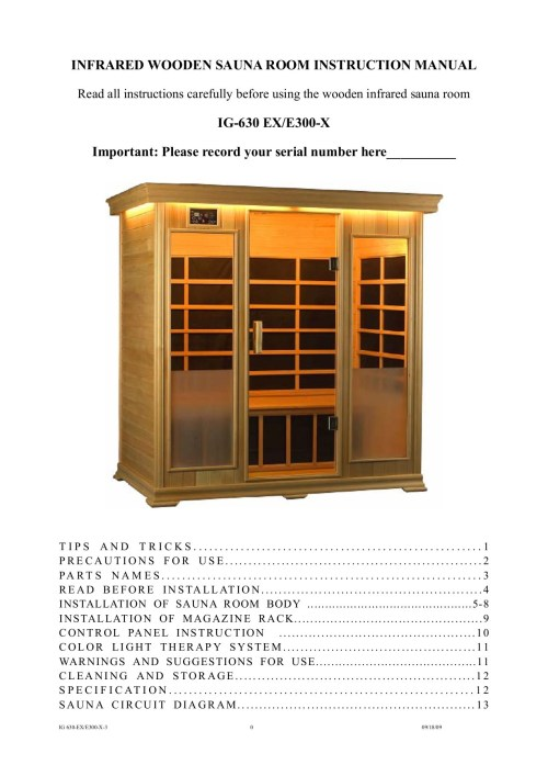 small resolution of infrared wooden sauna room instruction finnleo pages 1 15 text version fliphtml5
