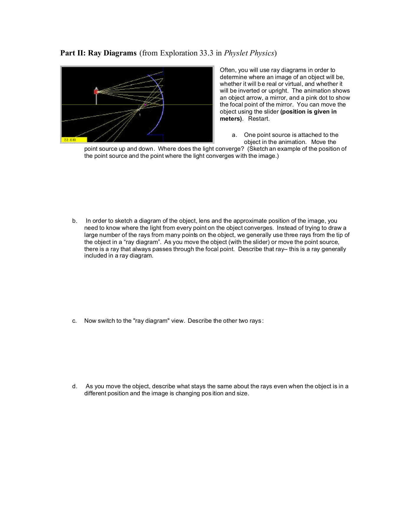 light ray diagram worksheets 2005 dodge durango radio wiring geometrical optics curved mirrors worksheet pages 1 6 text version fliphtml5