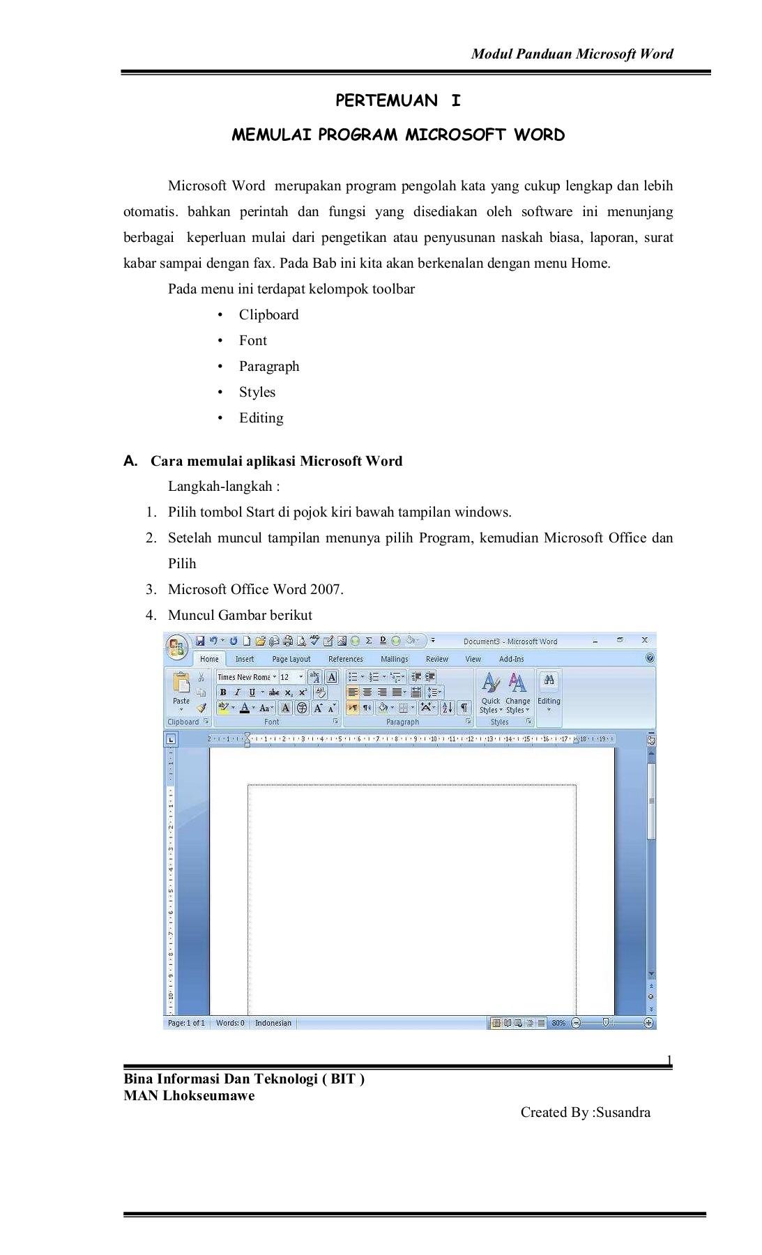Cara Menampilkan Toolbar Pada Word 2007 : menampilkan, toolbar, Panduan-microsoft-word-2007