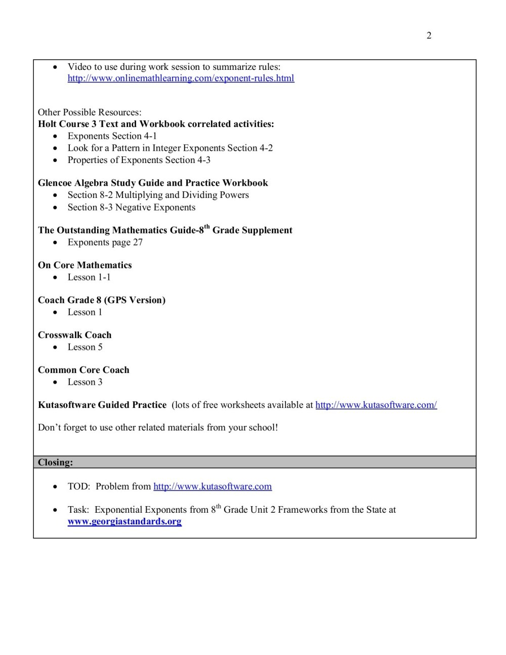 medium resolution of Evidence of Learning - Thomas County Schools Pages 1 - 12 - Flip PDF  Download   FlipHTML5