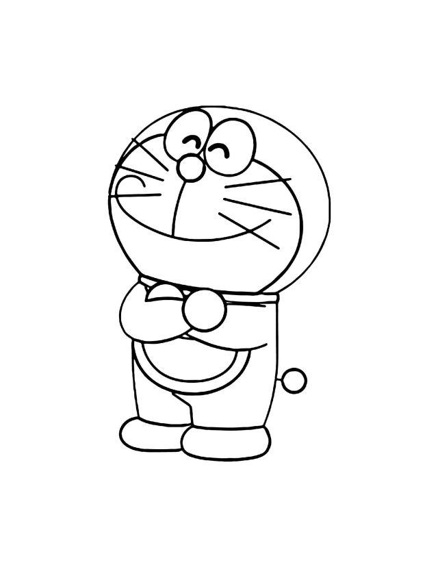 Happy-Doraemon-Coloring-Page