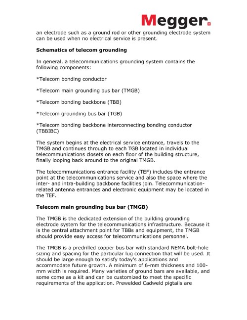 small resolution of grounding and bonding telecommunications systems pages 1 4 text version fliphtml5