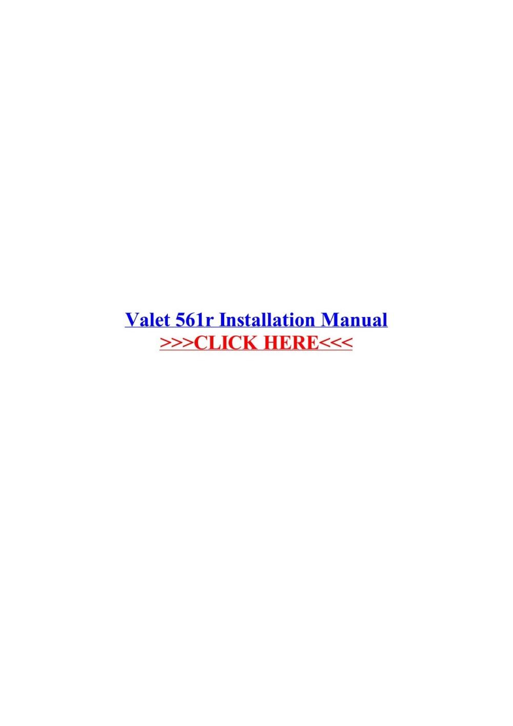 medium resolution of valet 561r installation manual wordpress com