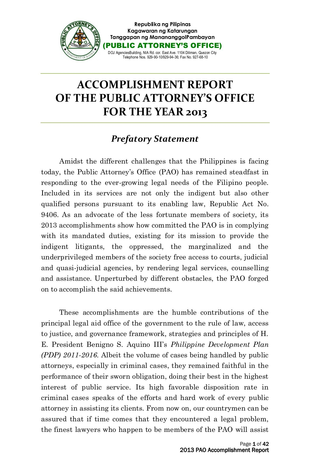 ACCOMPLISHMENT REPORT OF THE PUBLIC ATTORNEY'S OFFICE | FlipHTML5