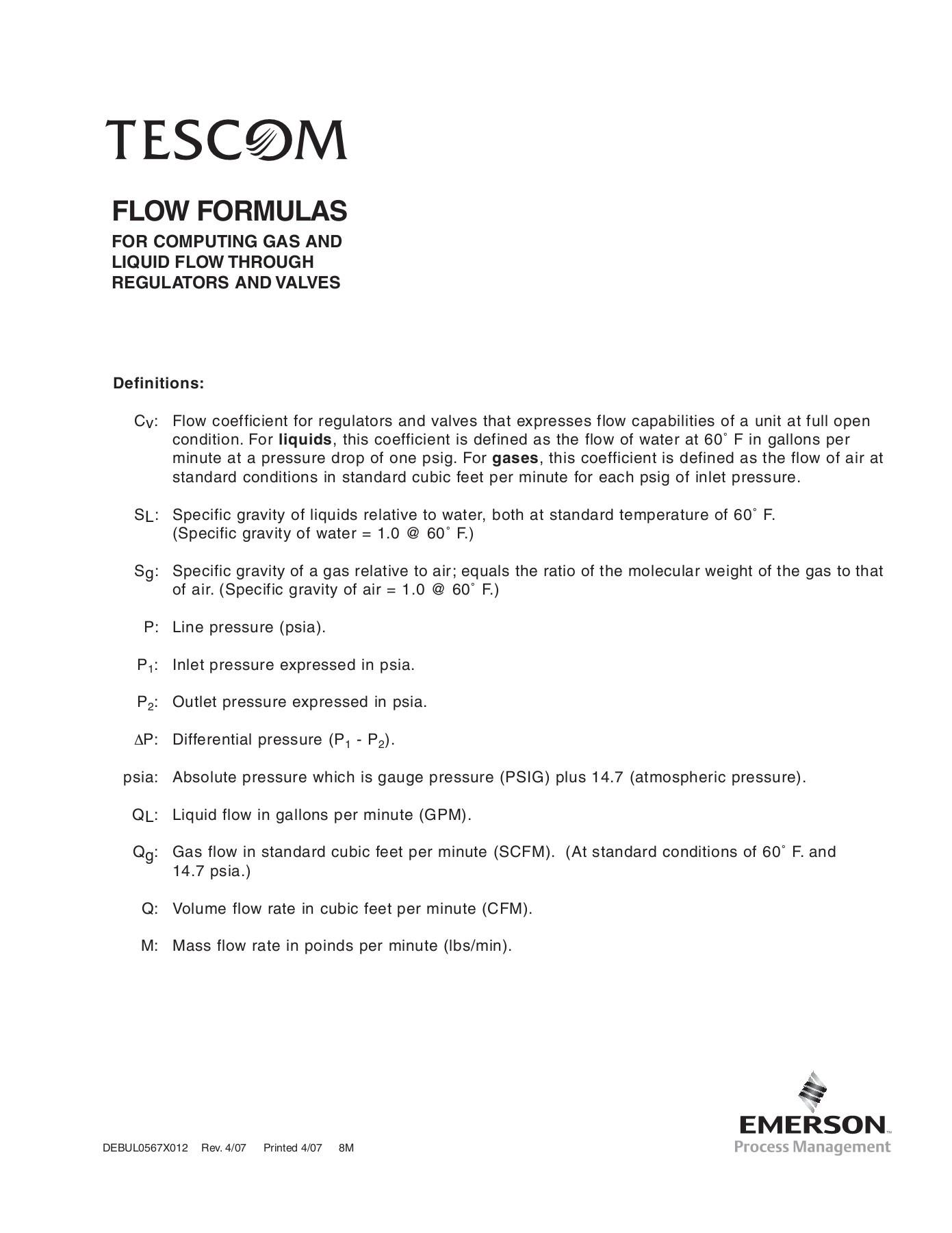 Scfm To Cfm Formula