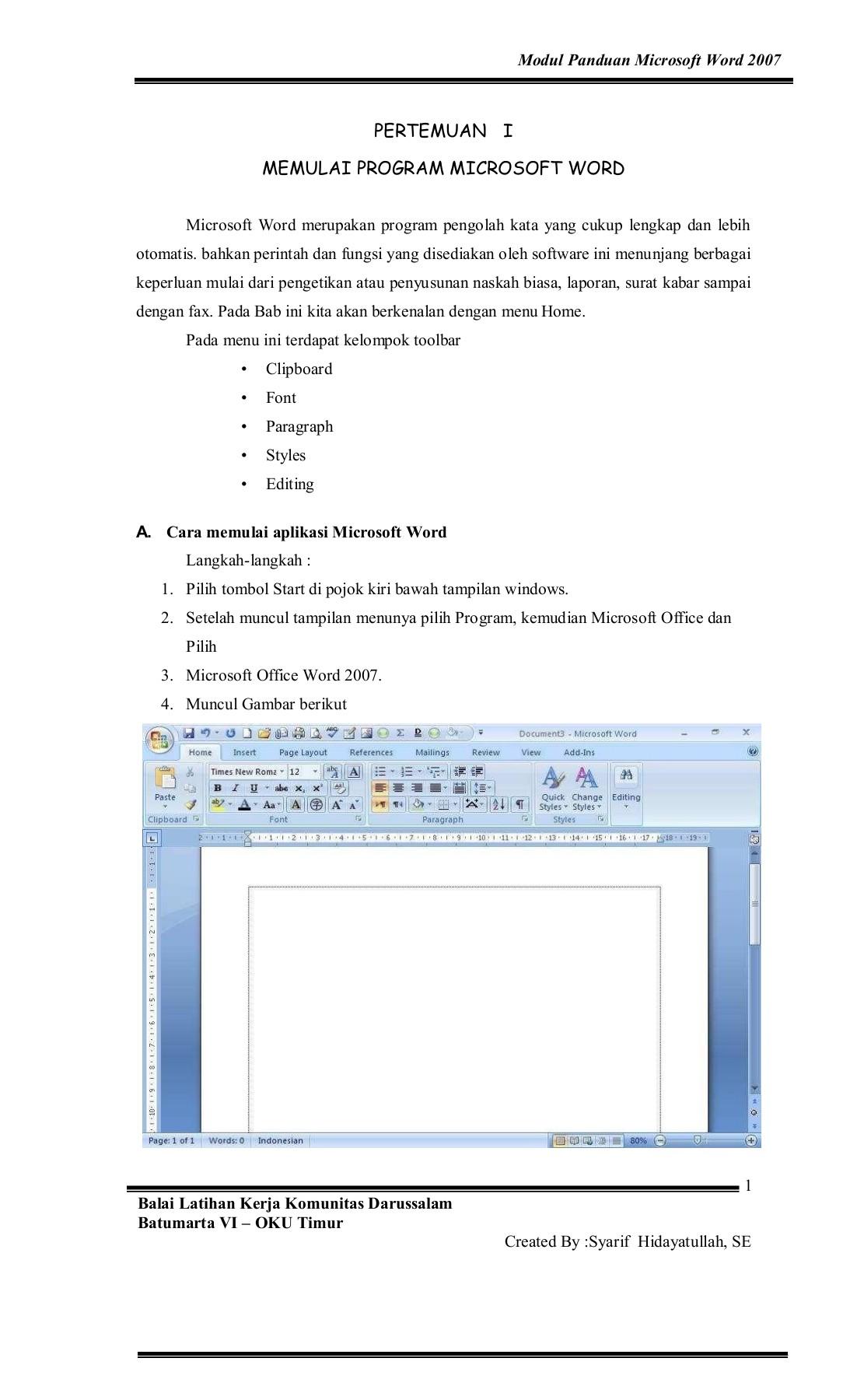 Cara Memunculkan Toolbar Di Word : memunculkan, toolbar, Modul, Panduan, Microsoft, Kelas, Mandiri, Pages, Download, FlipHTML5