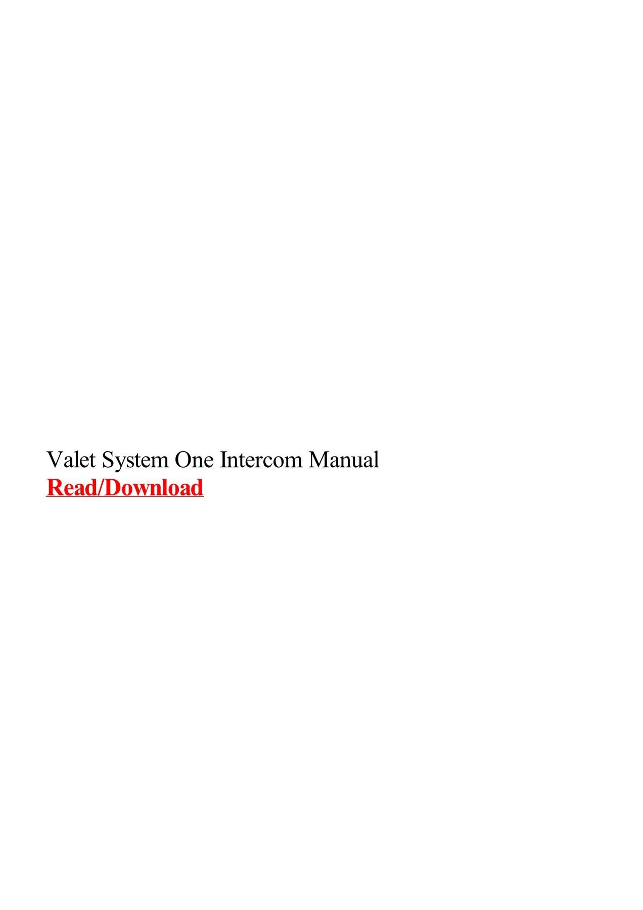 hight resolution of valet intercom wiring diagram