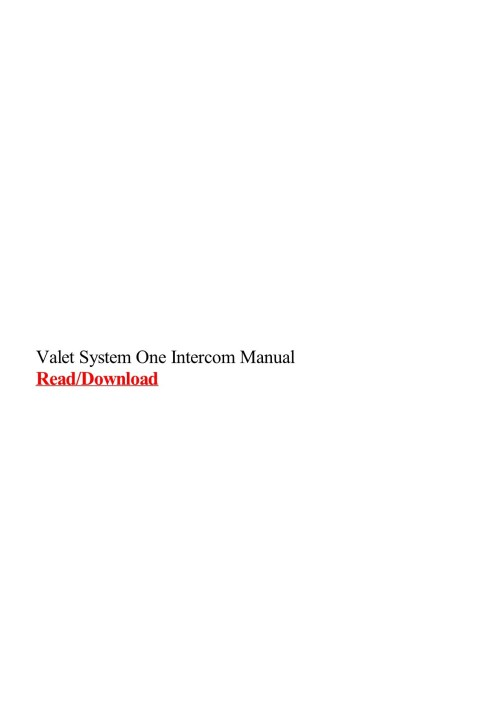 small resolution of valet intercom wiring diagram