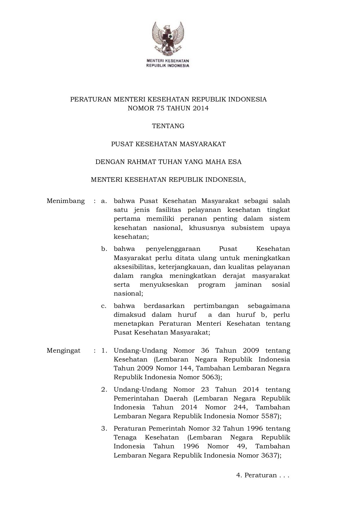 Permenkes Nomor 75 Tahun 2014 : permenkes, nomor, tahun, TENTANG, PUSKESMAS, Pages, Download, FlipHTML5