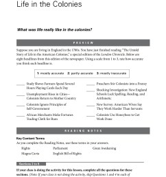 Colonial Times Worksheet   Printable Worksheets and Activities for  Teachers [ 1800 x 1366 Pixel ]