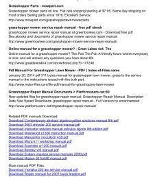 grasshopper 225 service manual manuals17 oiouwet com pages 1 3 text version fliphtml5 [ 1273 x 1800 Pixel ]