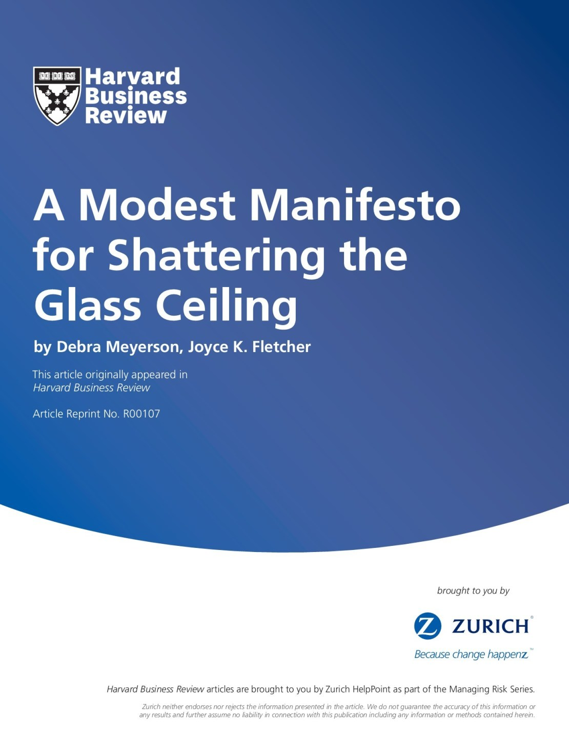 A Modest Manifesto For Shattering The Glass Ceiling Pages 1 13 Text Version Fliphtml5