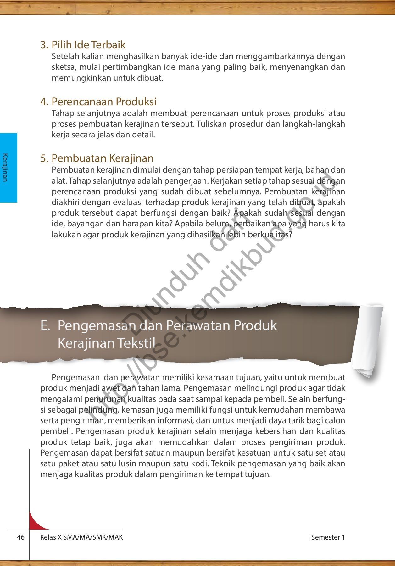 Proses Pembuatan Kerajinan Tekstil : proses, pembuatan, kerajinan, tekstil, Kelas10_prakarya_dan_kewirausahaan_buku_siswa_1646, Pages, Download, FlipHTML5