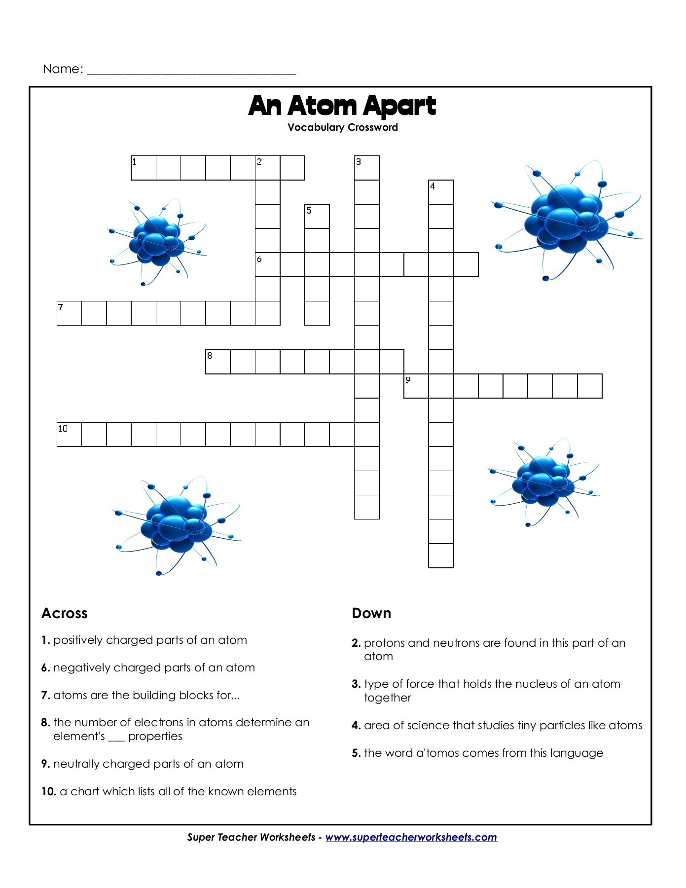 Build An Atom Worksheet Answer Key
