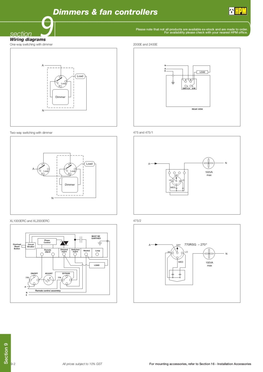 medium resolution of dimmers fan controllers 9 hpm