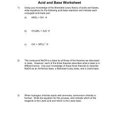 Acid and Base Worksheet - Edmond Public Schools Pages 1 - 4 - Flip PDF  Download   FlipHTML5 [ 1800 x 1391 Pixel ]
