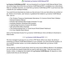 Lg Cosmos Vn250 Manual PDF - oceanroadphotography.net Pages 1 - 16 - Flip  PDF Download   FlipHTML5 [ 1800 x 1273 Pixel ]