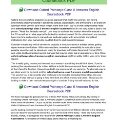 oxford pathways class 5 answers english coursebook pages 1 12 text version fliphtml5 [ 1273 x 1800 Pixel ]