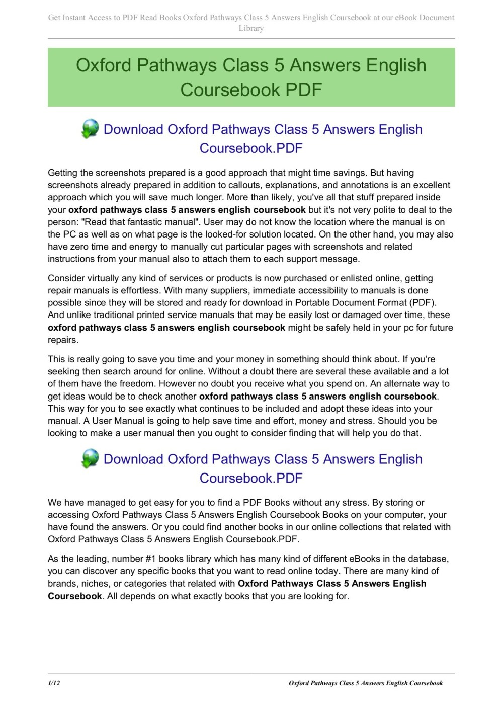 medium resolution of oxford pathways class 5 answers english coursebook pages 1 12 text version fliphtml5