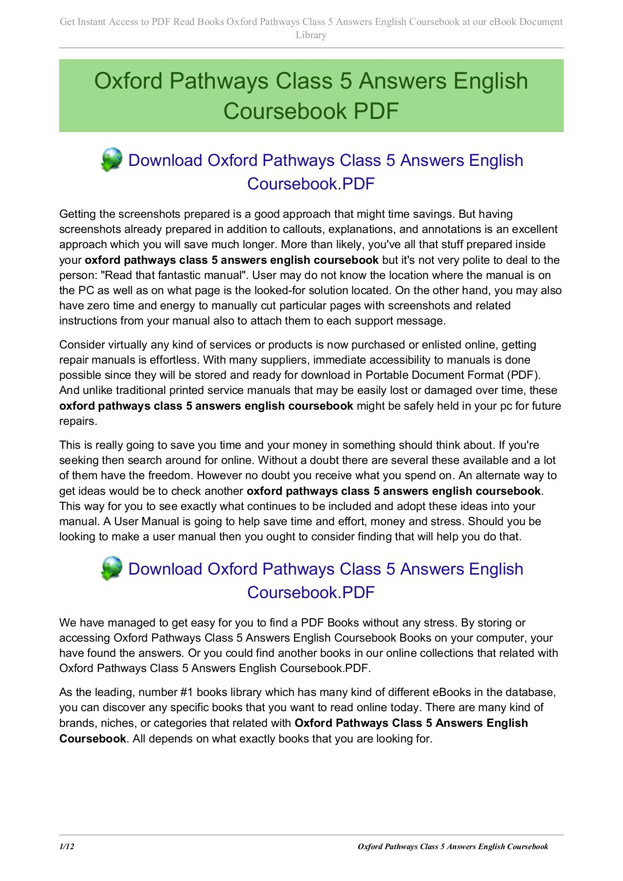 hight resolution of oxford pathways class 5 answers english coursebook pages 1 12 text version fliphtml5