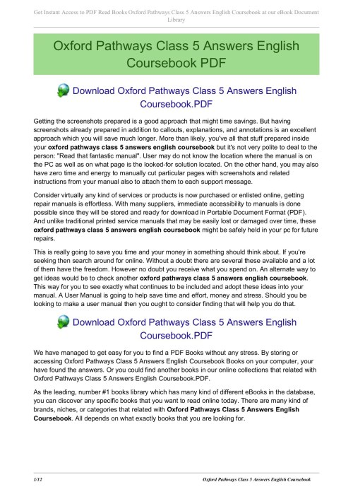small resolution of oxford pathways class 5 answers english coursebook pages 1 12 text version fliphtml5