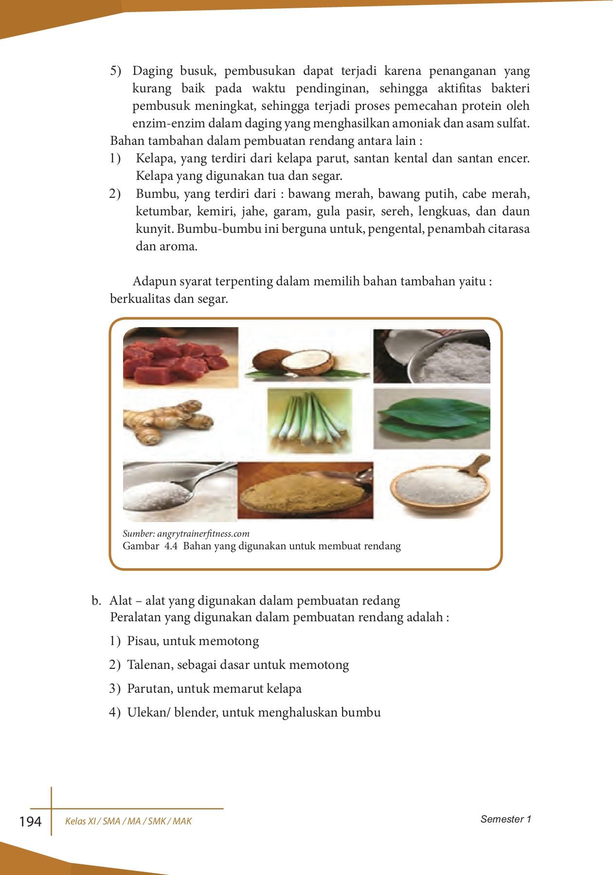 Pemilihan Daging Untuk Pembuatan Rendang Yang Baik Yaitu : pemilihan, daging, untuk, pembuatan, rendang, yaitu, Kelas-11-Revisi-2017-SMA-Prakarya-dan-Kewirausahaan-S1, Pages, Download, FlipHTML5
