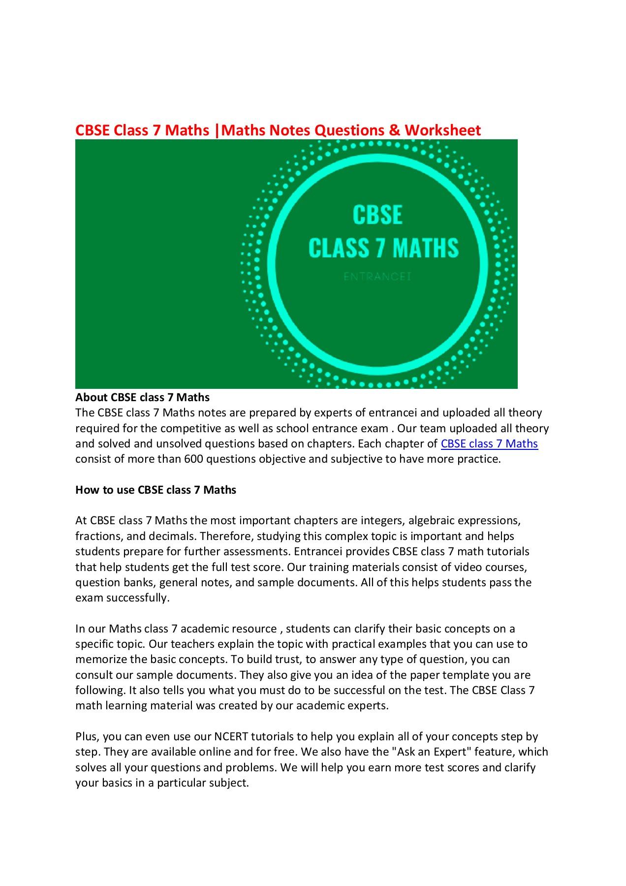 medium resolution of CBSE class 7 Maths Pages 1 - 2 - Flip PDF Download   FlipHTML5