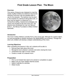 First Grade Lesson Plan about the Moon - American Mensa [ 1800 x 1391 Pixel ]