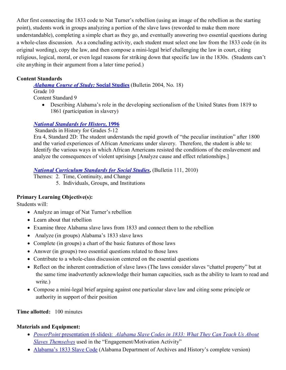 medium resolution of Alabama Slave Codes