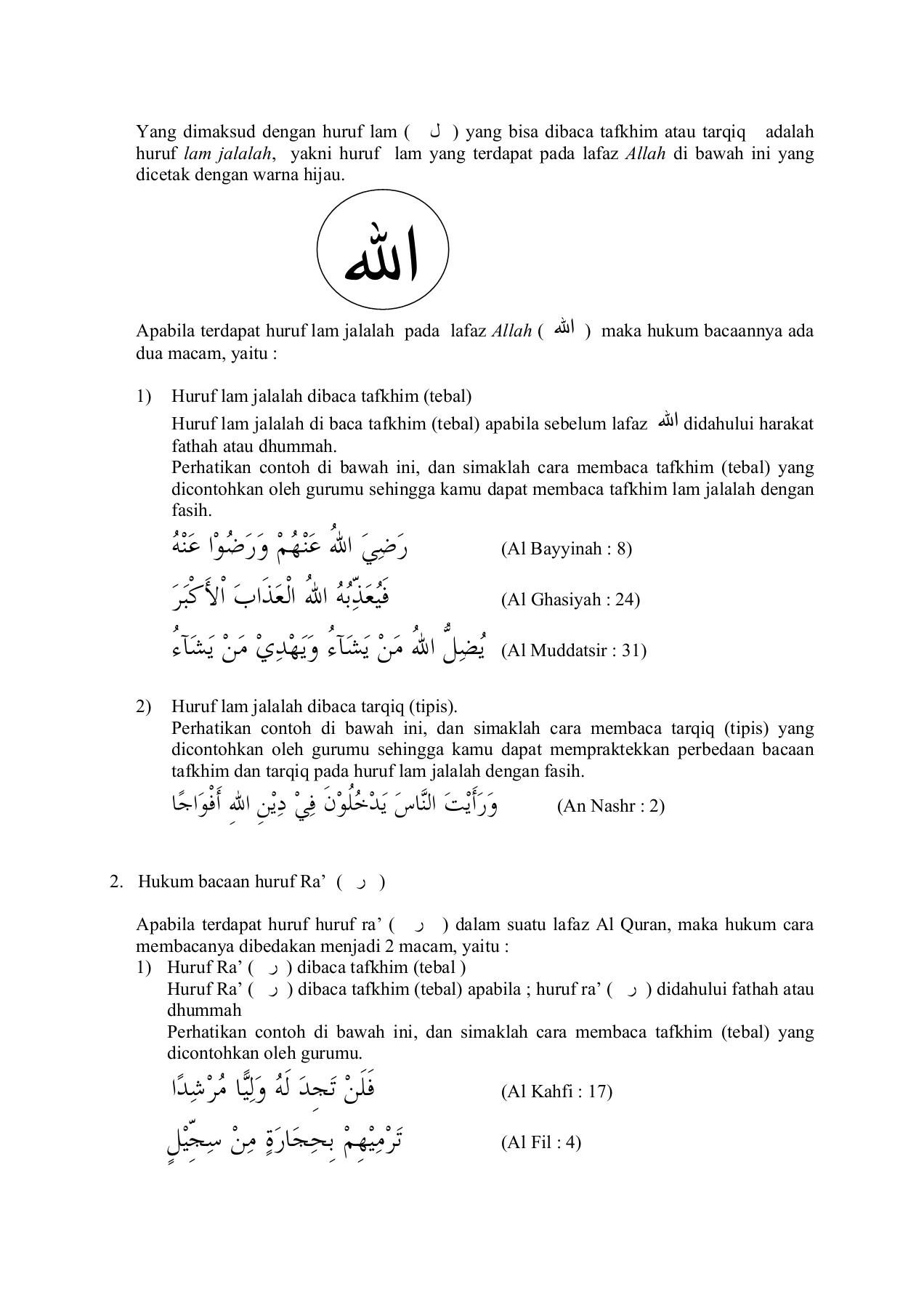 Ra Tarqiq Dan Tafkhim : tarqiq, tafkhim, 01_Hukum%20bacaan%20qalqalah, Pages, Download, FlipHTML5