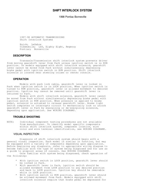 small resolution of transmission wiring diagram 1998 buick