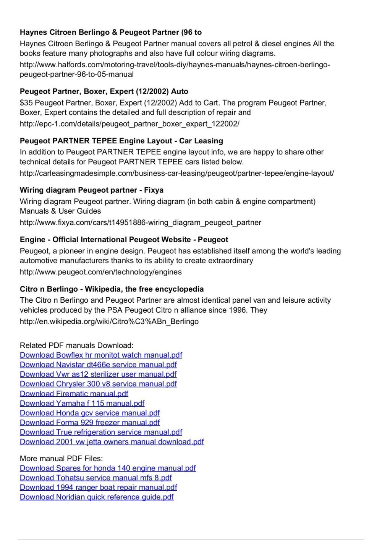 medium resolution of peugeot partner manual engine diagram pages 1 3 text version fliphtml5