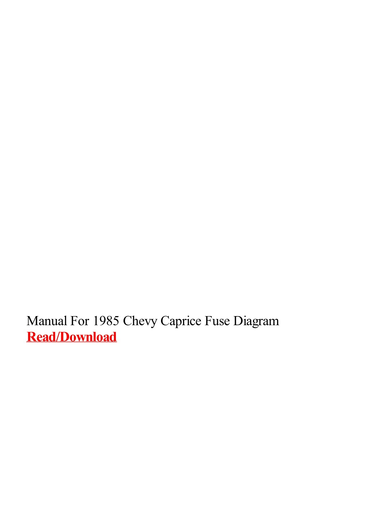 hight resolution of manual for 1985 chevy caprice fuse diagram pages 1 3 text version fliphtml5