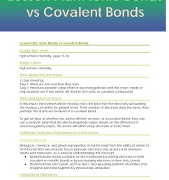 Ionic And Covalent Bonding Worksheet 8th Grade   Printable Worksheets and  Activities for Teachers [ 1800 x 1391 Pixel ]
