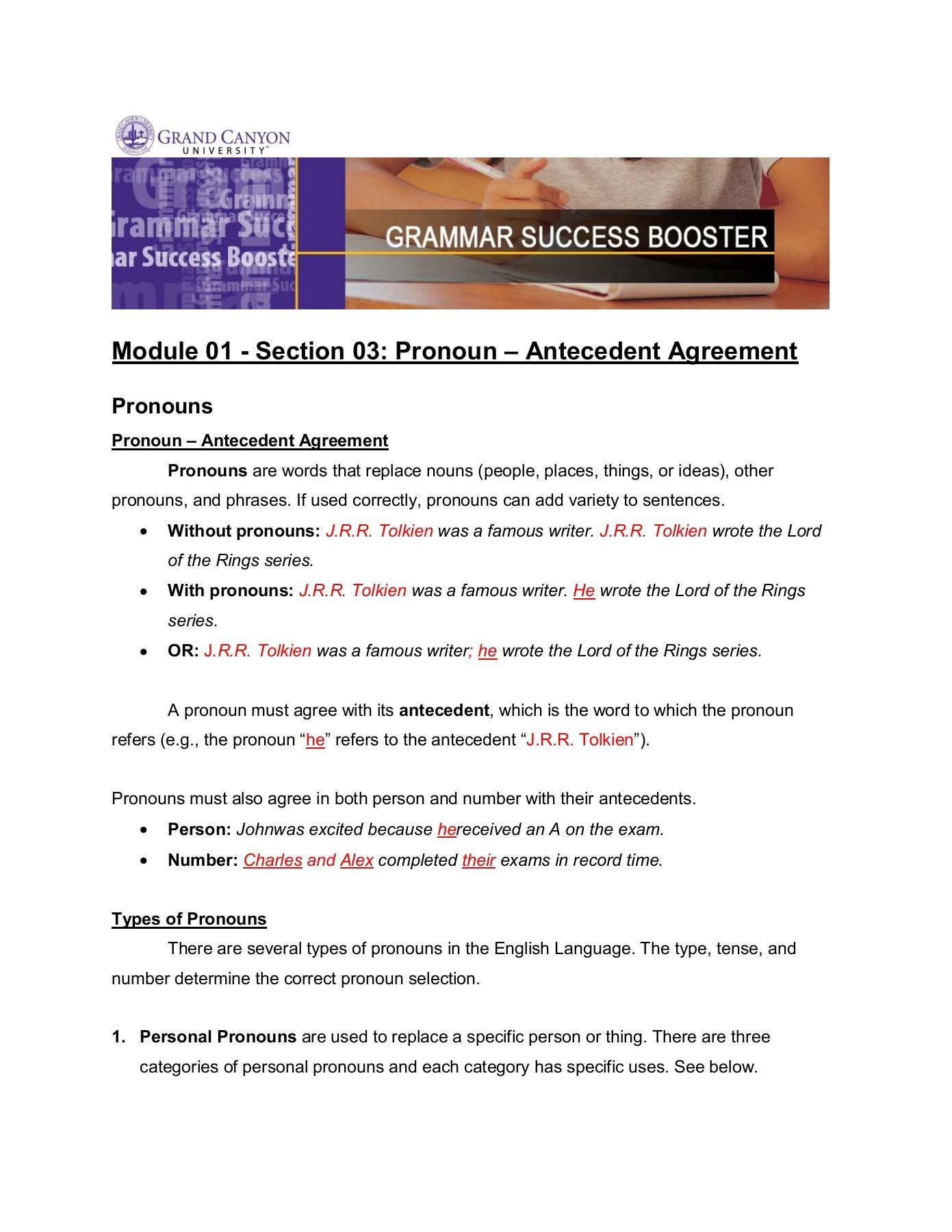 hight resolution of pronoun antecedent agreement for 2021